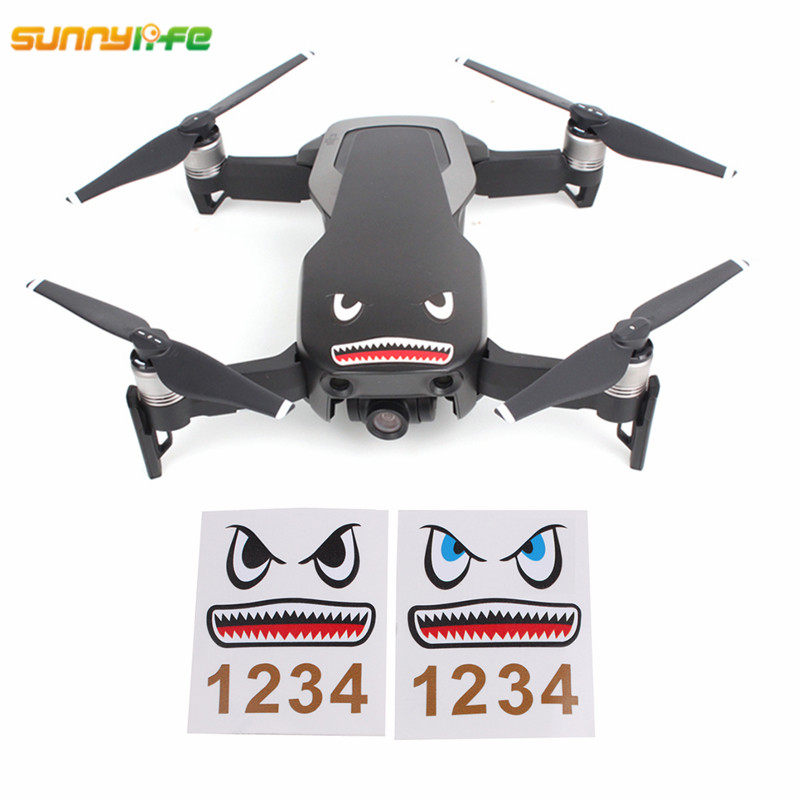 Sunnylife DJI Mavic Air Accessories Shark Sticker Drone Body Sticker Aircraft Adhesive Decals Skin for mavic pro platinum spark sunnylife drone mavic pro transporte dji mavic pro advertising thrower publicity shinkichon pelter fish bait for mavic platinum