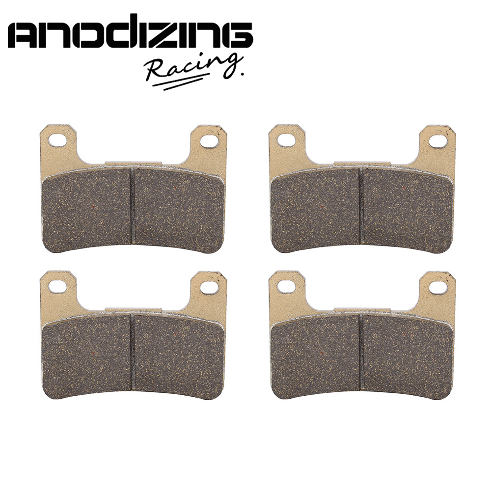 Motorcycle Front and Rear Brake Pads For KAWASAKI ZX-10R NINJA 1000 2008-2015 180 16 9 fast fold front and rear projection screen back