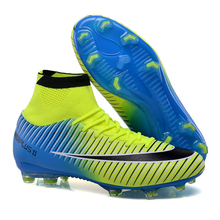FG football soccer shoes men XI Boots TF High Ankle indoor soccer cleats Turf superfly futbol Sport Shoes Sneakers 801