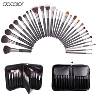 Docolor Make Up Brushes 29 Pcs Profeesional Makeup Brush Set With Case Top Nature Bristle And