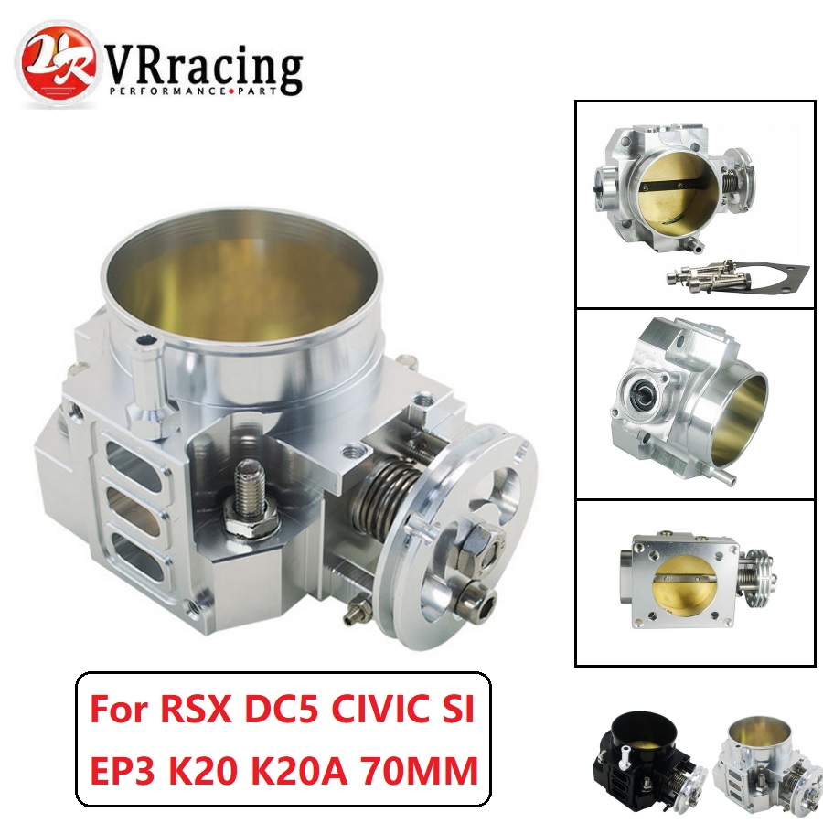 VR RACING-nuevo cuerpo del acelerador para RSX DC5 CIVIC SI EP3 K20 K20A 70MM CNC rendimiento del cuerpo del acelerador de admisión VR6951