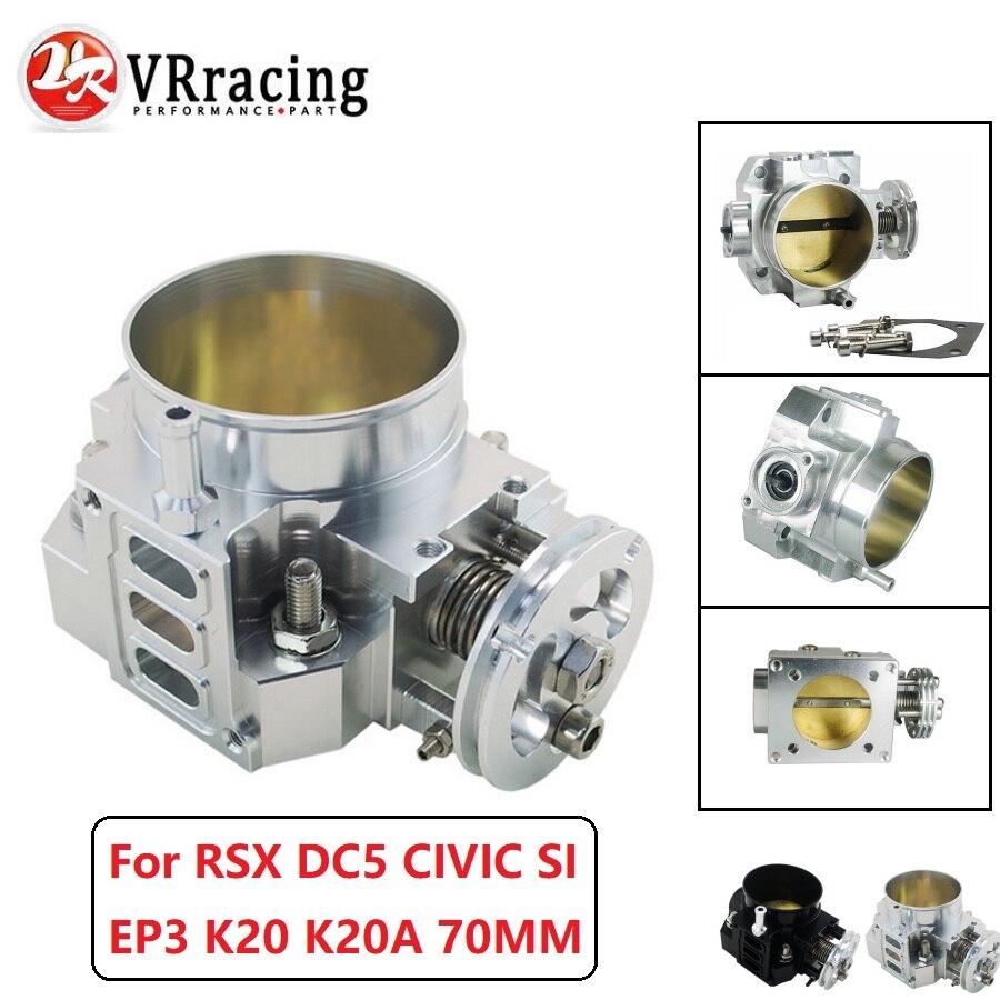 Vr racing-novo corpo do acelerador para rsx dc5 civic si ep3 k20 k20a 70mm cnc admissão desempenho do corpo do acelerador vr6951