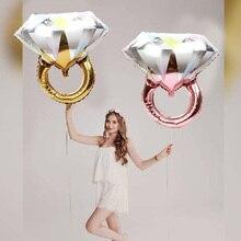Balões românticos de anel, balões de casamento, noivado, aniversário, festa de despedida de solteira, aniversário, dama de honra, decoração