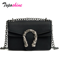 2018 Selling New Korean Fashion Trend Clamshell Solid Color Small Side Bag Wild Casual Temperament Chain