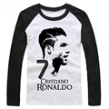 2016 Summer World Cup Cristiano Ronaldo men's long sleeve T-shirt survetement footbal bodybuilding camiseta barcelonae