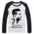 2016 copa del mundo de verano Cristiano Ronaldo manga larga hombres camiseta survetement footbal culturismo camiseta barcelonae