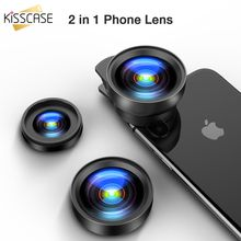 KISSCASE 2 IN 1 Wide Angle Macro Lens Camera Kits HD Mobile