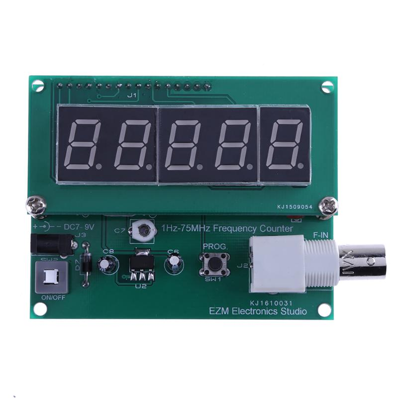 1Hz-75MHz Frequency Cymometer Meter Counter High Sensitivity Frequency Meter Frequency Counter 7V-9V 50mA DIY Kit Measuring Tool