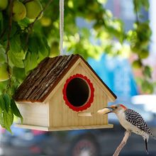 Wooden Bird Cage Houses Nest Outdoors Hanging Garden Decorative сумка wooden houses w302 2014