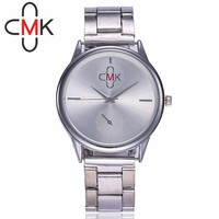 198c47d2056 CMK Relógios Relógio da Correia de Aço Moda Ultra Fino Casual Women Dress  Watch Ladies Quartz