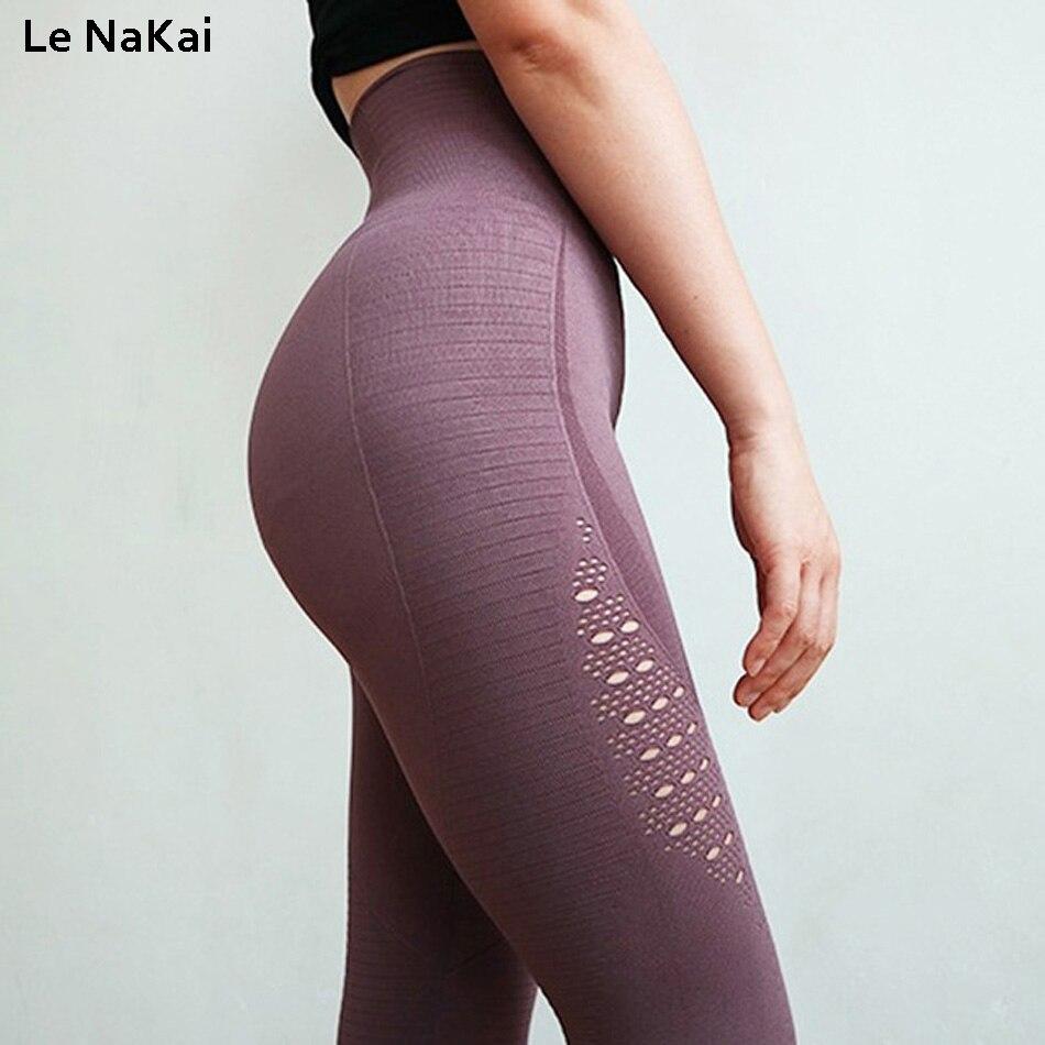 Energia Senza Soluzione di Continuità yoga leggings a vita alta tummy controllo yoga pantaloni allenamento palestra leggings fitness booty scrunch leggings pantaloni della tuta