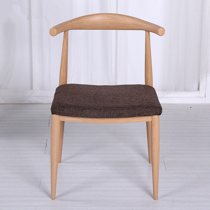 Mid Century Dining Chair With Fabric Upholstery Cushion Seat Beige/Brown Solid Wood Dining Room Furniture Modern Dining Chair майка борцовка print bar рок идолы