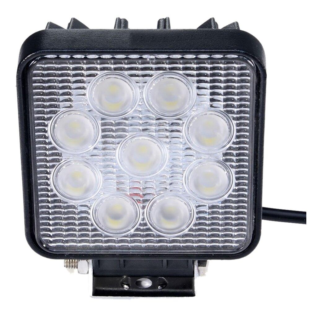 12x 5 27W Square Flood Beam 60 Degree LED Work Offroads Lamp Light Truck Boat 12v 24v