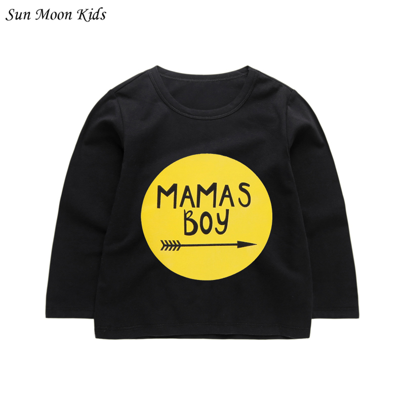 Sun Moon Kids Baby Boys T-shirt Long Sleeve Baby Boys Girls Tops Tee Newborn Baby Clothes Infant T Shirts Children Clothing