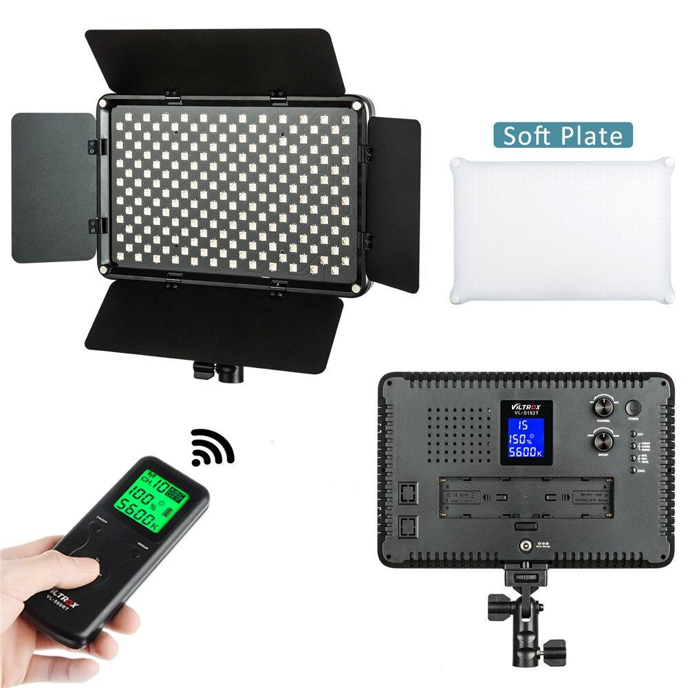 Viltrox VL 192T Professional HD lcd двухцветный светодио дный светодиодный видео свет + пульт + сумка для студии, YouTube, фото продукта, видеосъемка