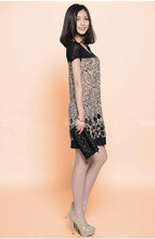 Women's Print Short Sleeve Loose Dress