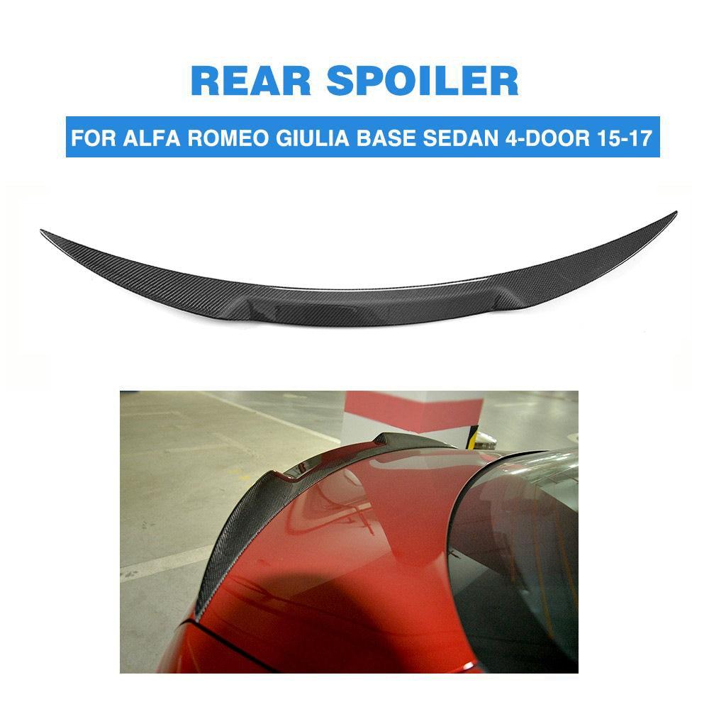 Online Shop Carbon Fiber Car Roof Antenna Spoiler Sticker Shark Alfa Romeo Umbrella For Giulia Rear Trunk Boot Lip Wing Sedan 2015 2016 2017