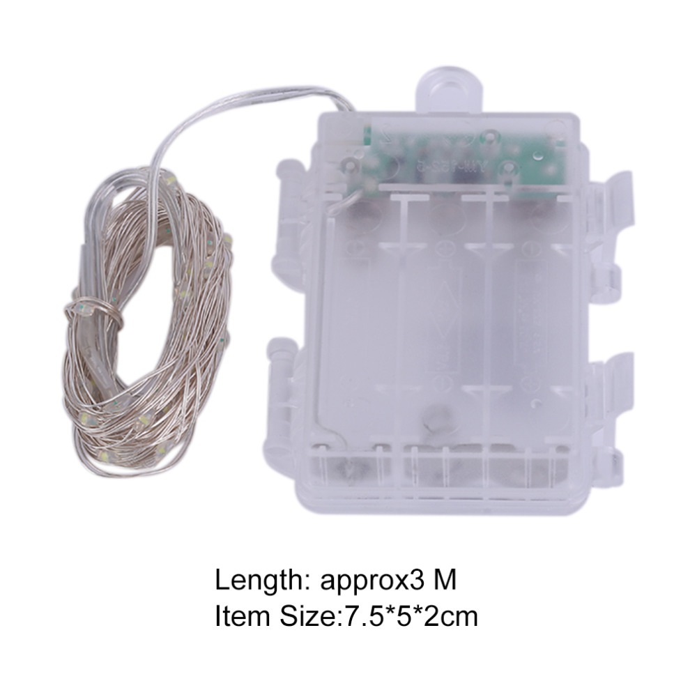 3m 30 Led Silver Wire String Light Fairy Lamp Festivals Decorative Wiring Of Iron Box 3aa Battery With 8 Function Remote Control Hot Sale In Lighting Strings From