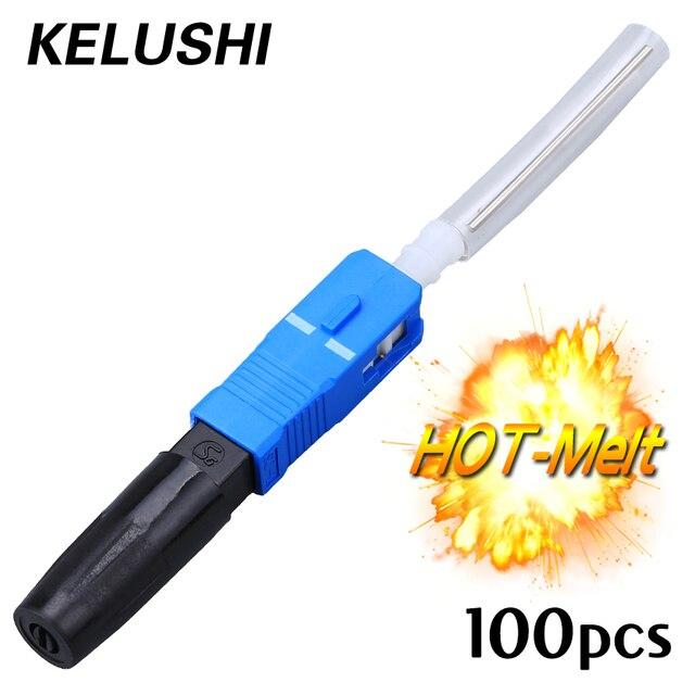 100 sztuk darmowa wysyłka FTTH SC/ UPC topi się głowy stawy szybkie przewoźnik klasy światłowód termiczny typ kontaktu szybkie złącze