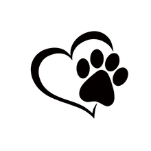 Hot Sale Cute Pet Paw With Heart Dog Cat Vinyl Decal Car Window Car Stying Sticker Jdm hot sale shenzhen decorative films car rear window vinyl decal graphic wrap reusable adhesive see through sticker with free ship