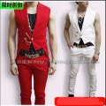 Hot 2015 New Korean men Slim dovetail sleeveless suit dress guests dance nightclub singer stage costumes clothing