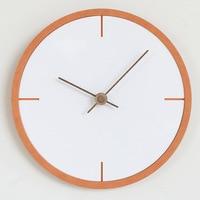 Nordic Wooden Wall Clock Simple Modern Design Creative Minimalist Style Hanging Clocks Wood Wall Watch Home Decor Silent