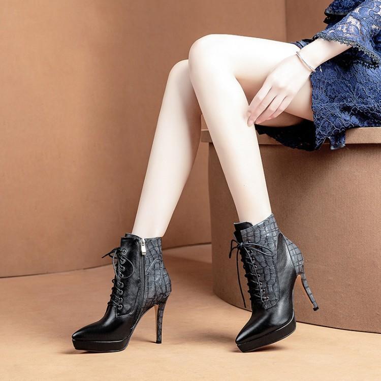 Chaussures Femmes Couleur En Talon Patchwork Rome Mode Bottes Noir Femme Gladiateurs Plate D'hiver Cuir Botas orange Haute Bout Mélangée Verni forme Pointu fnTxzxS