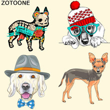 ZOTOONE Lovely Dog Patches for Clothing Stickers DIY Accessory Decoration A-level Washable Applique Parches Para La Ropa E