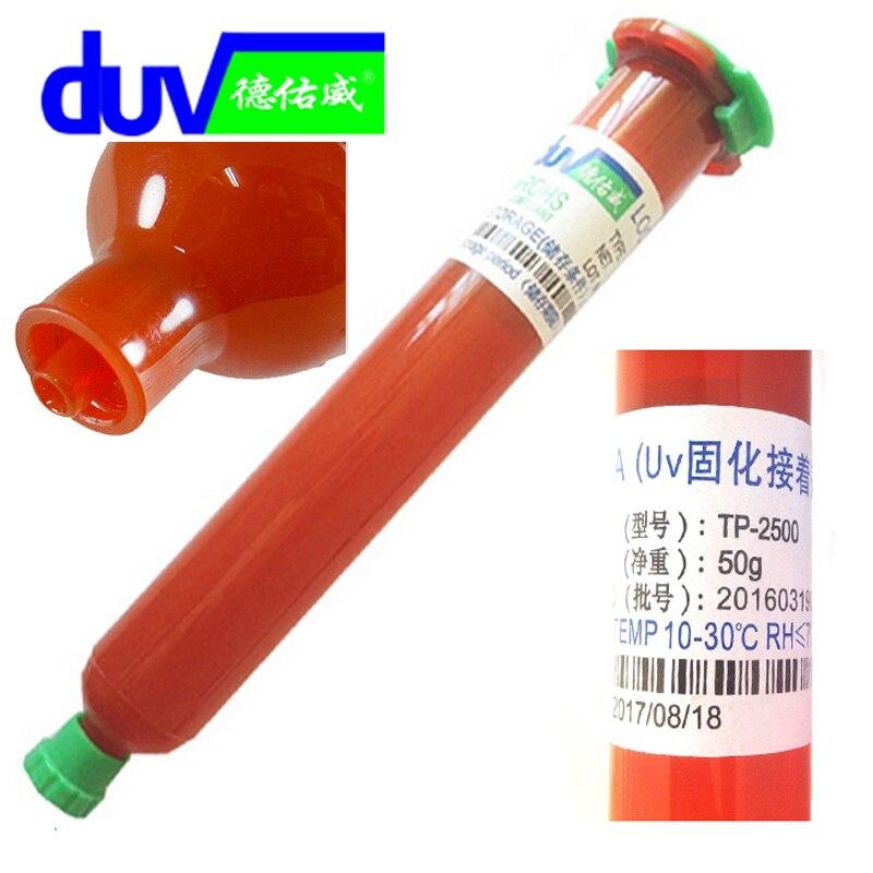New TP-2500 LOCA UV glue liquid optical clear adhesive tp 2500 uv glue tp2500 for touch screen samsung galaxy iPhone