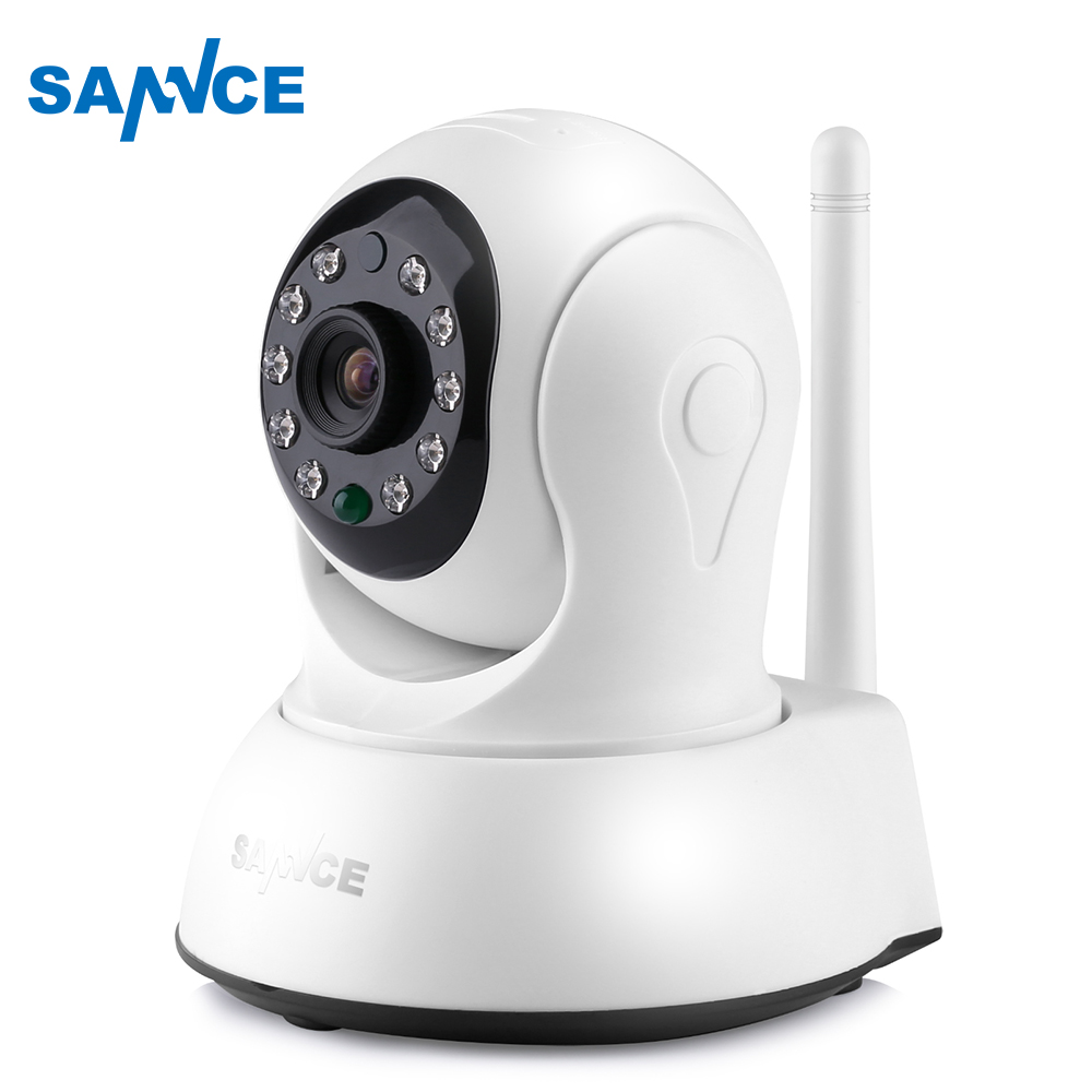 SANNCE HD 720P Mini Wi-fi Camera Wireless 10ft power cable IP Sucurity CCTV Camera Wifi Network Smart Night Vision Baby Monitor s what stylish universal 3 5mm jack wired in ear stereo headset w microphone blue pink