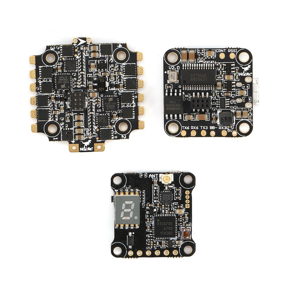 Hglrc Xjb F428-Tx20.V2 F4 Flight Controller Fc With 33A Blheli_S Esc Electronic Speed Control Tx20.V2 Vtx Transmission FPV hglrc xjb f438 tx20 v2 elf 600tvl 1 3 ccd camera
