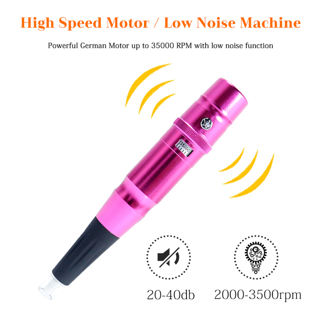 1 Pcs Hot Tattoo Permanent Makeup Pen Machine Dermografo Eyebrow Make up Tattoo Machine Swiss Motor Pen Gun Microblading Machine 5