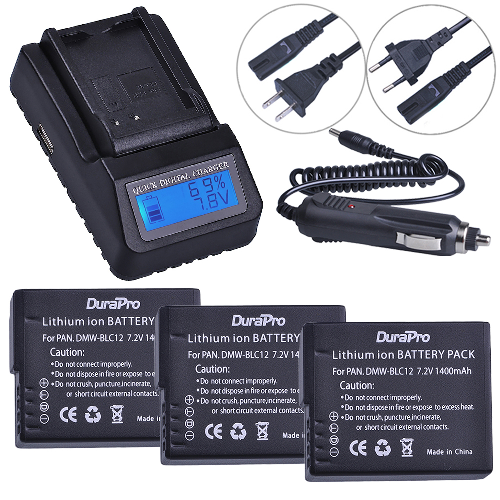 3pc Battery for Panasonic DMW-BLC12 DMW BLC12 BLC12E + LCD Quick Charger for Panasonic FZ1000 FZ200 FZ300 G5 G6 G7 GH2 Camera 3pc dmw blc12 dmw blc12e blc12 1400mah rechargeable li ion battery dual charger for panasonic fz1000 fz200 fz300 g5 g6 g7 gh2 page 4