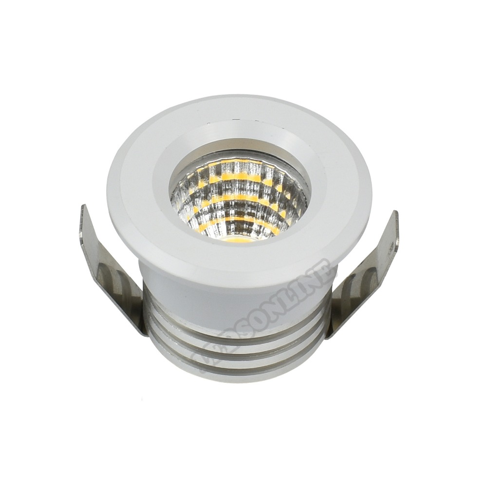 3W LED Downlight Equal 36W Halogen Lamp Round White Silver