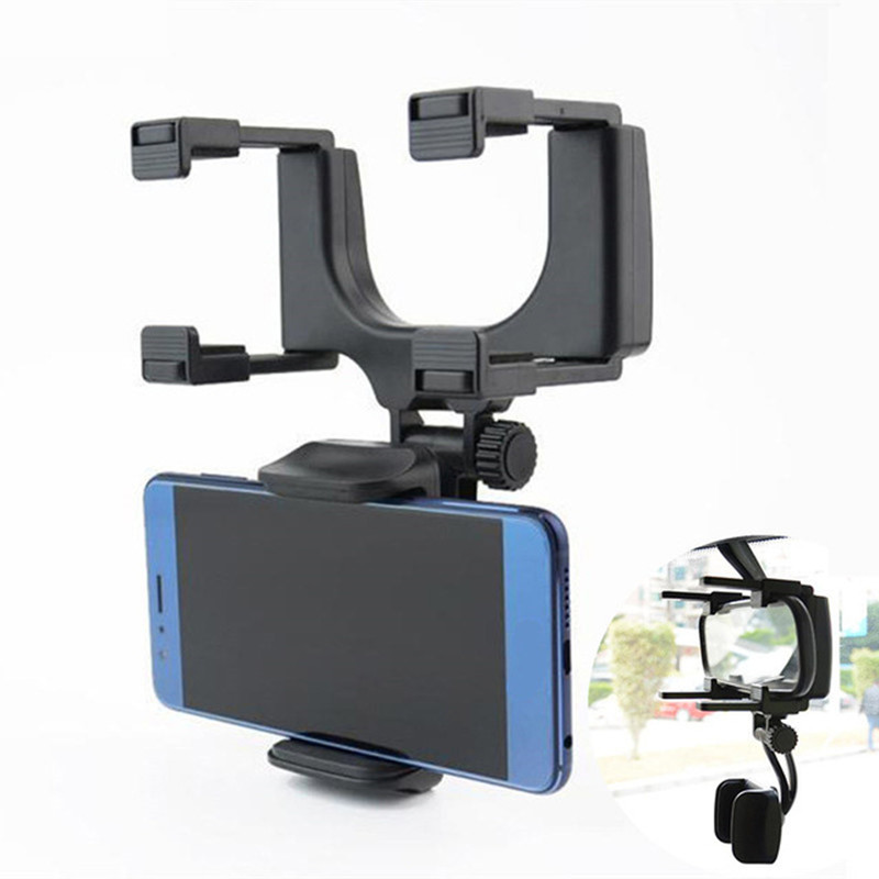Car Phone Holder Stands For iPhone 360 Degree Rotate Car Rearview Mirror Mount Holder for Mobile Phone Holder for Phone in Car