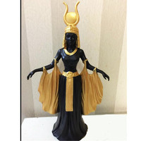 Resin Egyptian Goddess Queen Figurine Home Decoration Crafts Ornaments Accessories Egypt Statuette Crafts R1302
