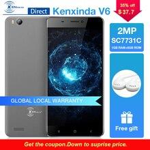 "Купить с кэшбэком Cheap Celular Kenxinda V6 Android 7.0 Original Smartphones 1G RAM+8G ROM Mobile Phone 3G WCDMA 2.0MP Camera 4.5"" Unlocked Phone"