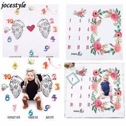 1 шт. с цветочным принтом детские пеленки-одеяла обёрточная бумага милые мягкие одеяло новорожденных Мода купальный полотенца DIY младенче