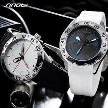 SINOBI montres à Quartz de sport pour hommes montre haut de gamme en Silicone pour homme de marque de luxe montre militaire Luninous aiguilles horloge Relogio Masculino