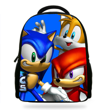 14inch Classic Game Sonic the Hedgehog Printing Backpack Boys School Backpacks Little Children Bagpack Kids Cartoon Mochila