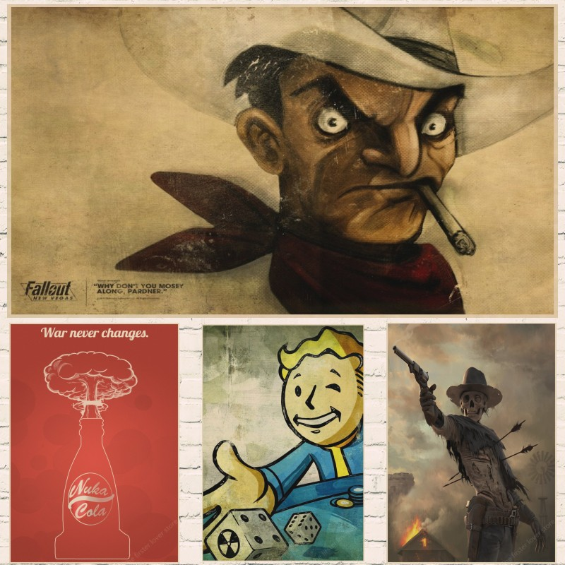 Vintage Posters Rock Fallout Game Anime Wall Home Decoration Retro Poster wall decor vintage prints part 4 image