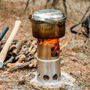 Image 5 - LIXADA портативная уличная дровяная печь для кемпинга Складная кухонная посуда дровяная печь для альпинизма выживания приготовления пикника для охоты