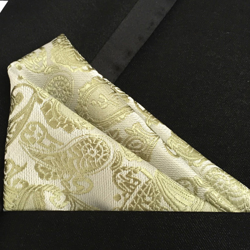 Lingyao Luxury Pocket Square High Quality Woven Handkerchiefs Classic Paisley Handky For Banquet