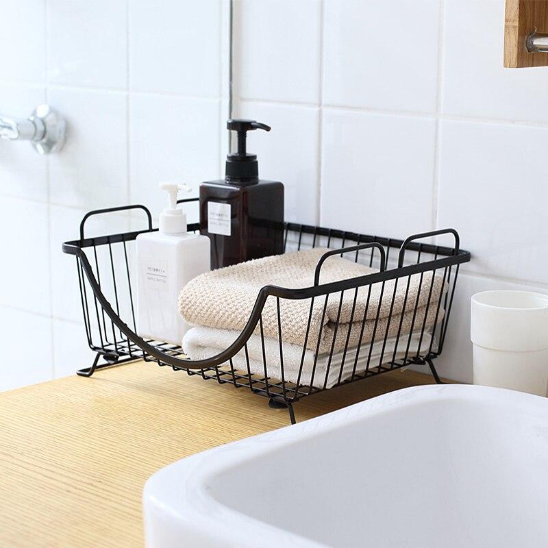 Iron art mand organizer kan gebruikt in Keuken afvoer mand ...