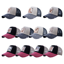 New Summer Cartoon Mesh Baseball Caps Snap back Anime Embroidery for Women Men hip-hop Outdoor Driver Dad Hat sunhat