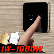 Jiubei White Crystal Glass Switch Panel, Touch Switch, Eu Standaard, 2 Gang 1 Manier Schakelaar, schakelaar Touch, C702 11/12/13