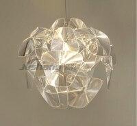 Modern D61/72cm Luceplan Hope Pendant Lamps Acrylic Lampshade Hanglamp Pendant Light Lighting Bedroom Led E27 Lamp Fixtures