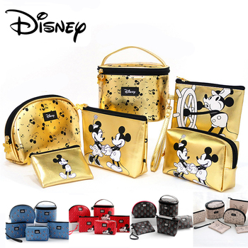 Disney Mickey Mouse Multi-function Women Bag Wallet Purse Baby Care Bag Fashion Mummy Bag Girls Gifts Genuine Bags Kids