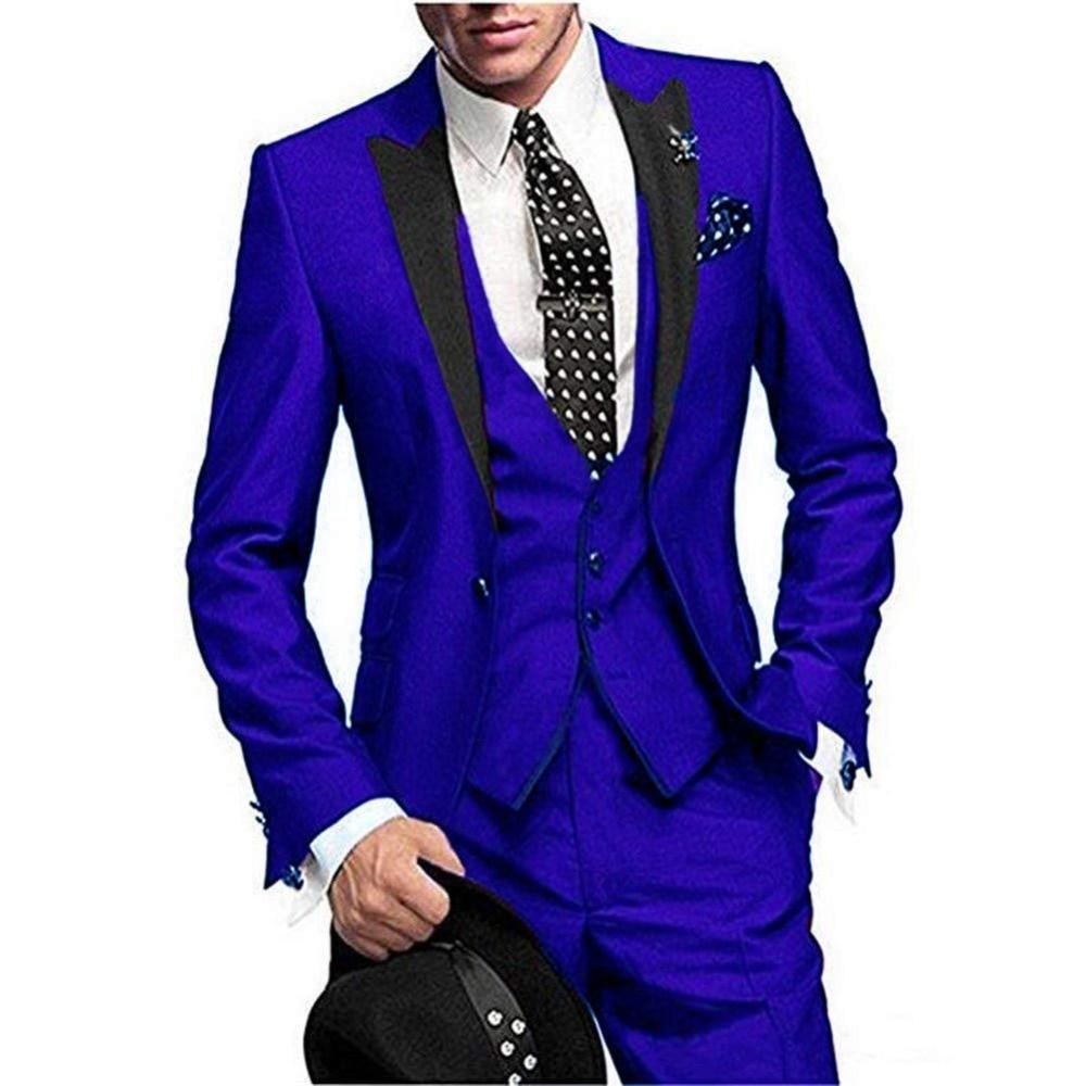 d1cacb9539e Traje Piezas Picture 2018 16 Colores Pantalones Fit chaqueta Hombre  Esmoquin Hombres Trajes 3 as Chaleco Picture Boda De Slim ...