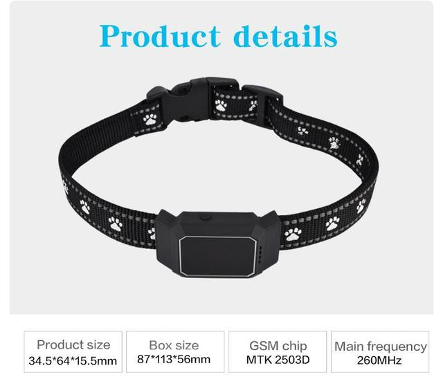 D35 Pet Collar GSM AGPS Wifi LBS Mini Light GPS Tracker for Pets Dogs Cats Cattle Sheep Tracking Locator